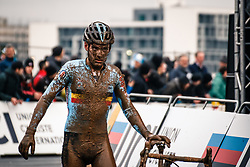 Gianni VERMEERSCH of Belgium after finishing the Men Elite race, UCI Cyclo-cross World Championship at Bieles, Luxembourg, 29 January 2017. Photo by Pim Nijland / PelotonPhotos.com | All photos usage must carry mandatory copyright credit (Peloton Photos | Pim Nijland)