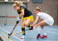 BARNEVELD - Hoofdklasse zaalhockey dames. Den Bosch-Rotterdam (1-0). Bieke Wijnmaalen (Den Bosch). COPYRIGHT KOEN SUYK