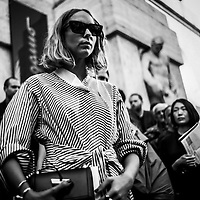 MILANO - 25/02/20217<br /> Analog Milan Fashion Week<br /> A different look on fashion week<br /> <br /> An analog photographic project on the Fashion Week began in 2014 and still in progress. The photographs were taken with Leica M2 and M5 for the Bronica 35mm and medium format; the films are Kodak and Rollei. In this picture Miss Candela Novembre
