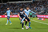 SYDNEY, AUSTRALIA - MAY 12: Sydney FC midfielder Milos Ninkovic (10) fights for the ball at the Elimination Final of the Hyundai A-League Final Series soccer between Sydney FC and Melbourne Victory on May 12, 2019 at Netstrata Jubilee Stadium in Sydney, Australia. (Photo by Speed Media/Icon Sportswire)