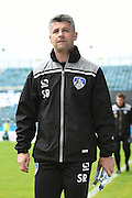 Oldham Athletic manager Stephen Robinson  before the EFL Sky Bet League 1 match between Gillingham and Oldham Athletic at the MEMS Priestfield Stadium, Gillingham, England on 8 October 2016. Photo by Martin Cole.
