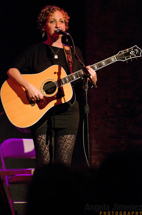 Natalia Zukerman performs with Mona Tavakoli, opening for Tom Paxton, at City Winery in New York City on September 18, 2011. ..Photographed by Angela Jimenez for Natalia Zukerman/Guild Guitars.www.angelajimenezphotography