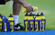 Filling drink water bottles during the Sky Bet Championship match between Brighton and Hove Albion and Blackburn Rovers at the American Express Community Stadium, Brighton and Hove, England on 22 August 2015.