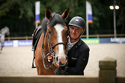 Bost Roger Yves, FRA, Sangria du Coty<br /> Warm Up - CHIO Rotterdam 2016<br /> © Hippo Foto - Sharon Vandeput<br /> 25/06/16