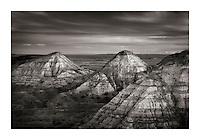 Dusk over Terry Badlands in Southeast Montana