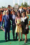 Koningsdag 2014 in de Rijp, het vieren van de verjaardag van de koning. / Kingsday 2014 in the Rijp , celebrating the birthday of the King. <br /> <br /> <br /> Op de foto / On the photo:   Princess Margiet and Pieter van Vollenhoven<br /> Prince Pieter-Christiaan and Princess Anita