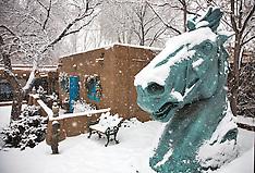 Snow scenes- Canyon Road - Santa fe - Photos