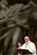 Vatican City mar 26th 2016, Easter Vigil mass at St Peter's Basilica. In the picture pope Francis