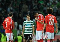 20120409: LISBON, PORTUGAL -Portuguese Liga Zon Sagres 2011/2012 - Sporting CP vs SL Benfica.<br /> In picture: Benfica's Oscar Cardozo, from Paraguay, reacts.<br /> PHOTO: Alvaro Isidoro/CITYFILES