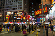 People crossing a busy street in central Hong Kong on Hennessy Road, Causeway Bay, Hong Kong. (photo by Andrew Aitchison / In pictures via Getty Images)