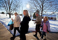 "CHAMPION, WI - DECEMBER 22: Visitors come to pray and worship at the Shrine of Our Lady of Good Help in a small rural town in northern Wisconsin, December 22, 2010 in Champion, Wisconsin. After years of research, the Bishop of Green Bay determined that the sightings of Mary ""clothed in dazzling white"" are indeed ""worthy of belief"" and now have now been officially sanctioned as real by the Vatican. This shrine is the first of such for the United States and now joins the company of Lourdes and Fatima.   (Darren Hauck )"