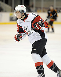 Anthony DiFruscia of the Niagara IceDogs. Photo by Aaron Bell/OHL Images