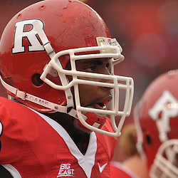 Dec 5, 2009; Piscataway, NJ, USA; Rutgers offensive lineman Kevin Haslam (78) warms up before first half NCAA Big East college football action between Rutgers and West Virginia at Rutgers Stadium.