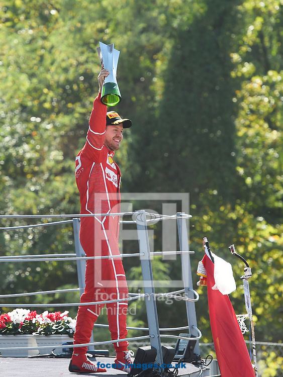 Sebastian Vettel of Scuderia Ferrari after coming third in the Italian Formula One Grand Prix at Monza National Race Track, Monza, Italy.<br /> Picture by EXPA Pictures/Focus Images Ltd 07814482222<br /> 03/09/2017<br /> *** UK & IRELAND ONLY ***<br /> <br /> EXPA-EIB-170903-0093.jpg