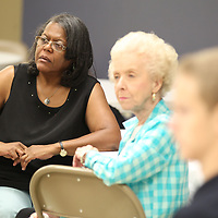 Mary Marion, left, listens to the plans for the upcoming 25th anniversery of Mission Mississippi.