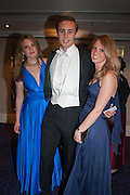TARKA RUSSELL; ALEX COLERIDGE; DAVINA COLLAS The Royal Caledonian Ball 2013. The Great Room, Grosvenor House. Park lane. London. 3 May 2013.