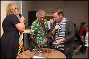 ROBIN KLASSNIK; BENEDICT DREW, Matt's Gallery 35th birthday fundraising supper.  42-44 Copperfield Road, London E3 4RR. 12 June 2014.