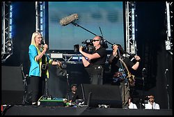 Anneka Rice on stage at the Celebration of the 2012 Olympic Games volunteering one year on at the  Queen Elizabeth Olympic Park.<br /> Mayor of London Boris Johnson and Lord Coe will be taking to the stage at Go Local to encourage a new drive in volunteering one year on from the Games. Also present are multi-platinum selling pop rock band McFly; world famous comedian Eddie Izzard, Brit Award nominated The Feeling, and Britain'Got Talent winners Attraction, in addition to stars Jack Carroll and Gabz. The event will be the UKs biggest ever celebration of volunteering and first Olympic and Paralympic legacy event at Queen Elizabeth Olympic Park.<br /> London, United Kingdom<br /> Friday, 19th July 2013<br /> Picture by Andrew Parsons / i-Images