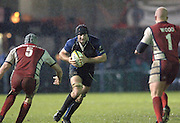 2005/06 Powergen Cup, Bath Rugby vs Gloucester Rugby, Steve Borthwick going for the gap between Mark Cornwell [left] and Nick Wood, at The Rec, on the 03.12.2005.   © Peter Spurrier/Intersport Images - email images@intersport-images..