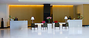 Lobby and Reception area in the 5-star Oberoi Mumbai Hotel at Nariman Point, Mumbai, formerly Bombay, Maharashtra, India