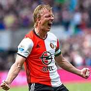 14-05-2017: Voetbal: Feyenoord v Heracles Almelo: Rotterdam<br /> <br /> (L-R) Feyenoord speler Dirk Kuyt juicht nadat hij de 2-0 heeft gescoord tijdens het Eredivisie duel tussen Feyenoord en Heracles Almelo op 14 mei 2017 in stadion Feyenoord (de Kuip)<br /> <br /> Eredivisie - Seizoen 2016 / 2017<br /> <br /> Foto: Gertjan Kooij