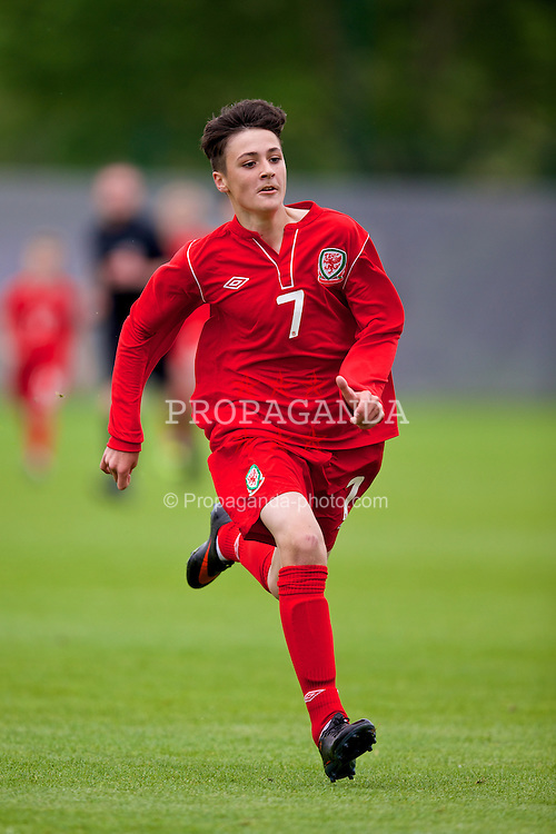 NEWPORT, WALES - Tuesday, May 27, 2014: Regional Boys' Mason Jones-Thomas during the Welsh Football Trust Cymru Cup 2014 at Dragon Park. (Pic by David Rawcliffe/Propaganda)