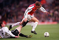Ray Parlour (Arsenal) Rory Delap (Derby County). Arsenal 0:0 Derby County, F.A.Carling Premiership, 11/11/2000. Credit / Colorsport / Stuart MacFarlane.