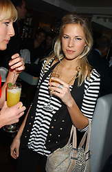 ALICE RUGGE PRICE at the launch of a new bar Bardo, 101-105 Walton Street, London SW3 on 29th November 2005.<br />
