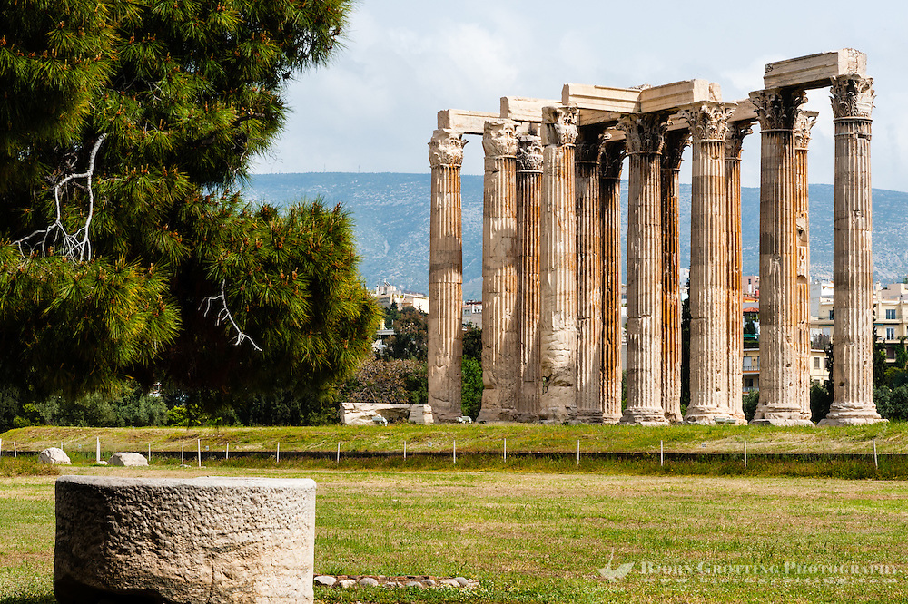 Athens, Greece. The Temple of Olympian Zeus.