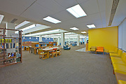 Architectural Interior Images of Baltimore Coppin State University Parlett Longworth Moore Library.