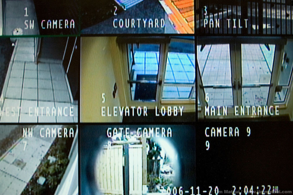 MONDAY NOVEMBER 21, 2006 - SEATTLE, WA.Security cameras monitor the Abused Deaf Women's Advocacy Services (ADWAS) secure offices and residential housing on Monday, November 21, 2006, in Seattle, Washington. ADWAS offices are in a newly constructed facility providing, for the first time in the agency's 20 year history, residential housing for deaf victims of domestic violence. ADWAS has partnered with the National Domestic Violence Hotline, based in Austin, Texas, to provide TTY services for victims needing referrals, information, and crisis intervention. The hotline numbers are 1-800-799-7233 and 1-800-787-3224(TTY). (Photo by Tim Matsui/World Picture News)