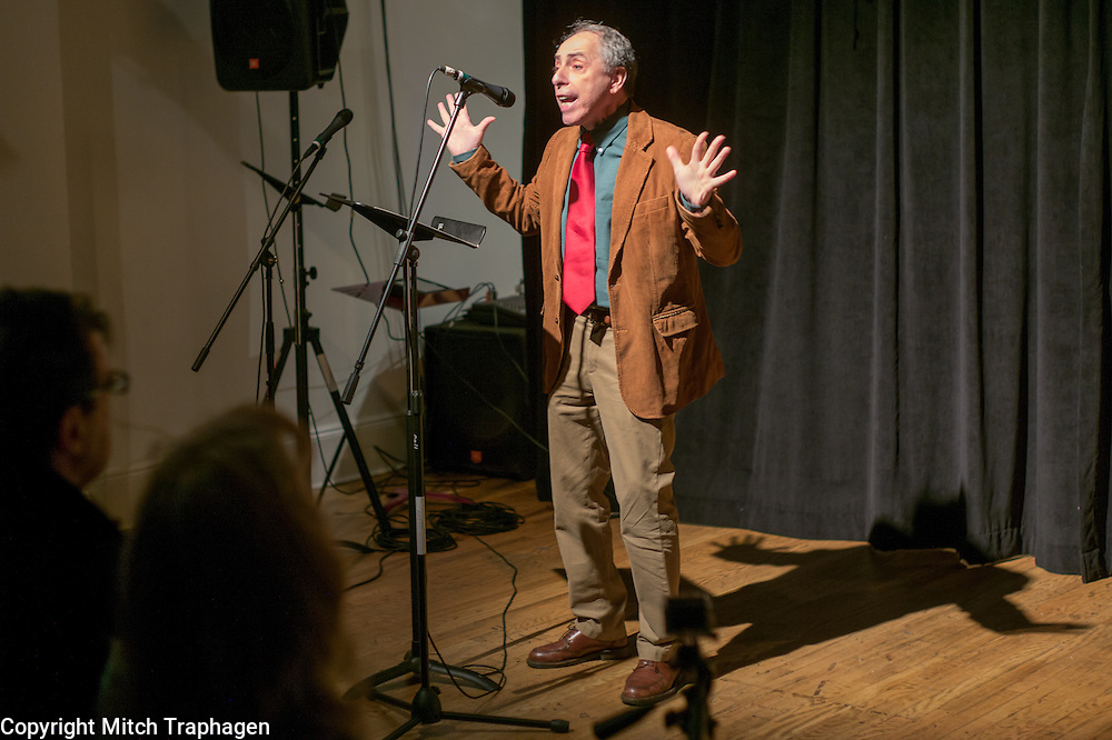 Artists Without Walls December Showcase at the cell theater in New York City, NY. December 23, 2014. Charles Hale, Niamh Hyland, Joseph Goodrich, Ron Vazzano, Ed Romanoff, Michael Sheahan, Nicholas Garr, Honor Molloy, Marion Stein, Grainne Duddy.