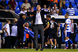 Derby County manager Frank Lampard celebrates his first league victory after his team defeat Reading - Mandatory by-line: Robbie Stephenson/JMP - 03/08/2018 - FOOTBALL - Madejski Stadium - Reading, England - Reading v Derby County - Sky Bet Championship