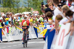 Matej Mohoric of Bahrain Merida during 5th Time Trial Stage of 25th Tour de Slovenie 2018 cycling race between Trebnje and Novo mesto (25,5 km), on June 17, 2018 in  Slovenia. Photo by Matic Klansek Velej / Sportida