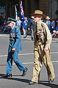 Old Soldiers march during Brisbane ANZAC day 2005 parade