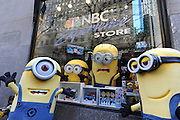 "The Minions visit New York, Monday, Nov. 25, 2013, to celebrate the release of ""Despicable Me 2"" on Digital HD on November 26 and Blu-ray and DVD on December 10.  The Minions took over Manhattan in preparation for their appearance in the 84th annual Macy's Thanksgiving Day Parade.  (Photo by Diane Bondareff/Invision for Universal Studios Home Entertainment)"