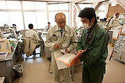 Nuclear Exclusion zone.    Minami Soma  Mayor  Katsusnobu Sakurai After a plea for  the  foreign and japanese Media to come to see and report  on the  damage done to the  town by the  Restrictions to stay indoors (but not to evacuate)  causing a disruption  in the  delivery of food and necessary  supplies to the  Area.   Since  his  Plea broadcast on  YouTube   some stores have reopened.  A radiation  Dose meter is in  his pocket and reads 16 micro Severts.  as well as a 10 day  acumilated  effect of 43 micro severts which is considered a safe limit.