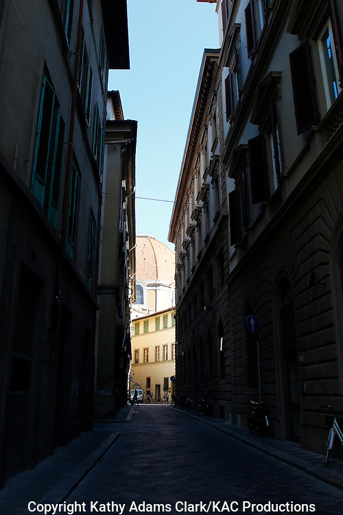 High dynamic range, HDR, street in Florence, Firenze, Italy.