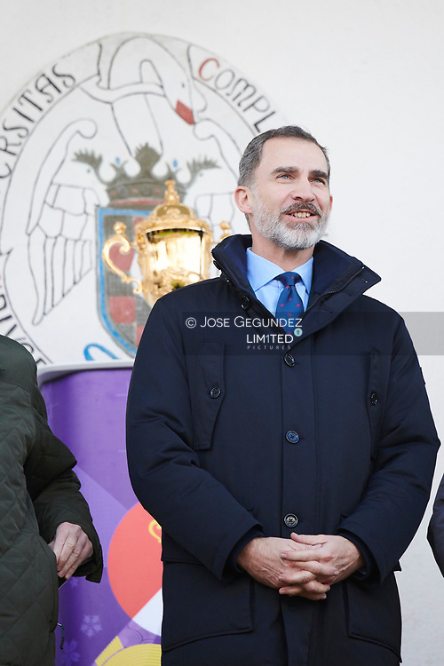King Felipe VI of Spain attends the match between Spanish Rugby National Team and Germany Rugby National Team at  National Stadium Complutense on March 11, 2018 in Madrid, Spain