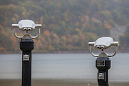 A pair of coin-operated binoculars at Devils Lake State Park in Wisconsin, resembling human faces, perhaps a Mr. and Mrs. http://www.gettyimages.com/detail/photo/see-faces-royalty-free-image/550435717
