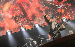 14.05.2015, Red Bull Ring, Spielberg, AUT, AC DC, Rock or Bust Tour, Spielberg, Konzert, im Bild Lead-Gitarrist Angus Young. Die australische Band AC/DC gastiert im Zuge ihrer Rock or Bust World Tour am 14. Mai in Spielberg // AC/DC perform on stage during their Rock or Bust Tour at the Red Bull Ring, Spielberg, Austria on 2015/05/14. EXPA Pictures © 2015, PhotoCredit: EXPA/ Sandro Zangrando