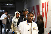 The Los Angeles Charger players arrive at the stadium during the International Series match between Los Angeles Rams and Cincinnati Bengals at Wembley Stadium, London, England on 27 October 2019.