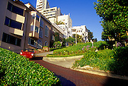 Image of Lombard Street in San Francisco, California, America west coast