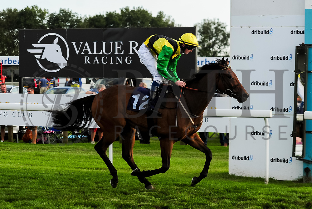 Street Jester ridden by Darragh Keenan and trained by Robert Stephens in the Visit Valuerater.Co.Uk Nursery Handicap race.  - Ryan Hiscott/JMP - 15/09/2019 - PR - Bath Racecourse - Bath, England - Race Meeting at Bath Racecourse