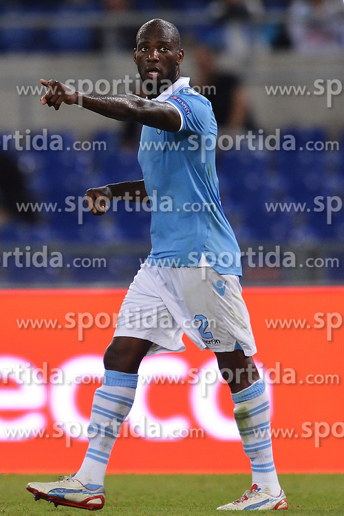 04.10.2012, Olympia Stadion, Rom, ITA, UEFA EL, Lazio Rom vs NK Maribor, im Bild Michael Ciani Lazio // during UEFA Europaleague Match between Lazio Rom and NK Maribor at the Olympic Stadium, Roma on 2012/10/04. EXPA Pictures © 2012, PhotoCredit: EXPA/ Insidefoto/ Andrea Staccioli, ***** ATTENTION - for AUT, SLO, CRO, SRB, SUI and SWE only *****. EXPA Pictures © 2012, PhotoCredit: EXPA/ Insidefoto/ Andrea Staccioli..***** ATTENTION - for AUT, SLO, CRO, SRB, SUI and SWE only *****