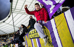 Viole, fans of Maribor during football match between NK Maribor and ND Triglav in 34th Round of Prva liga Telekom Slovenije 2013/14, on May 13, 2014 in Stadium Ljudski vrt, Maribor, Slovenia. NK Maribor became Slovenian National Champion 2014. Photo by Vid Ponikvar / Sportida
