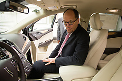 US DOL Secretary Thomas Perez takes a seat in the new Lincoln MKC at the Ford Motor Company Louisville Assembly Plant, the secretary visited with elected officials, company officials, community business leaders, students, and employees.<br />