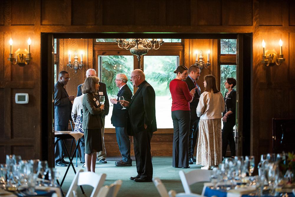 Doctorate program graduate banquet at Bozarth Mansion.