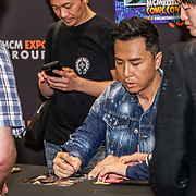 London,England, 26th May 2017 : Donnie Yen singing aotugraphy to fans MCM London Comic Con 2017 at London Excel at Royal Victoria Dock, London. Photo by See Li