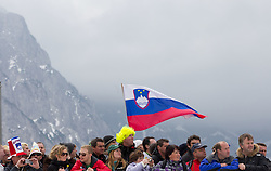 Slovenian fans during Flying Hill Individual competition at 4th day of FIS Ski Jumping World Cup Finals Planica 2012, on March 18, 2012, Planica, Slovenia. (Photo by Vid Ponikvar / Sportida.com)